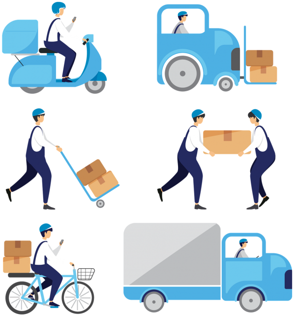 people, driver, delivery