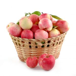 apples, basket full, set